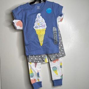Carter's Kids' 4-piece Cotton Pajamas Ice Cream